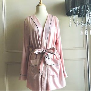 Victoria Secret Satin Lined Pink Robe